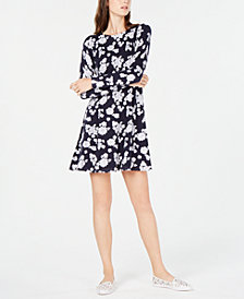 MICHAEL Michael Kors Printed Flared Sweater Dress