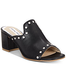 Rialto Stephy Studded Block-Heel Slide Sandals