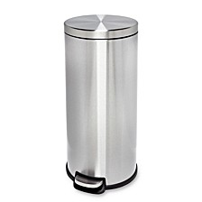30L Stainless Steel Step Trash Can