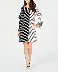 Alfani Colorblocked Ruffle-Sleeve Dress, Created for Macy's