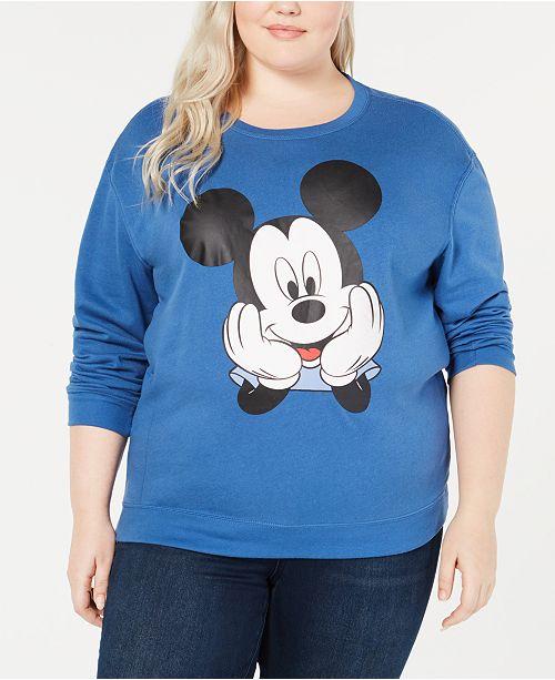 Love Tribe Trendy Plus Size Mickey Mouse Sweatshirt