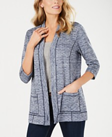 Karen Scott Space-Dyed Cardigan, Created for Macy's