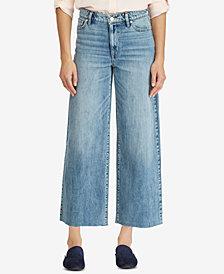 Lauren Ralph Lauren Wide-Leg Cropped Jeans