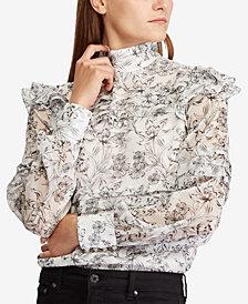 Lauren Ralph Lauren Floral-Print Georgette Top
