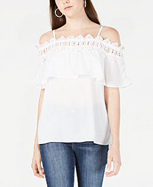 BCX Juniors' Popover Off-The-Shoulder Top