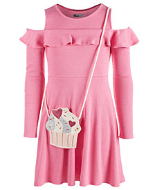 Epic Threads Big Girls Cold Shoulder Dress & Cupcake Bag, Created for Macy's