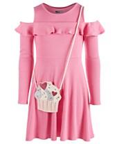 403ee85551fc Epic Threads Big Girls Cold Shoulder Dress   Cupcake Bag