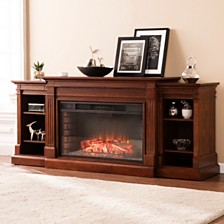 Cassian Fireplace with Bookcase, Quick Ship
