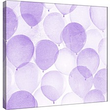 Balloons In Purple B Decorative Canvas Wall Art