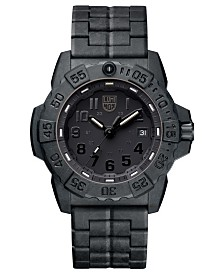 Luminox Men's 3502.BO Navy SEAL Trident Black Carbon Bracelet Watch