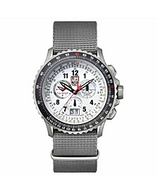 Men's 9249 F-22 Raptor Titanium Chrono Nylon Strap Watch