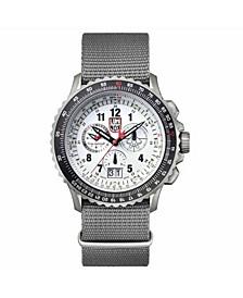 Men's 9249 F-22 Raptor Titanium Chrono Nylon Strap Watch