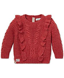 Polo Ralph Lauren Baby Girls Aran-Knit Cotton Sweater