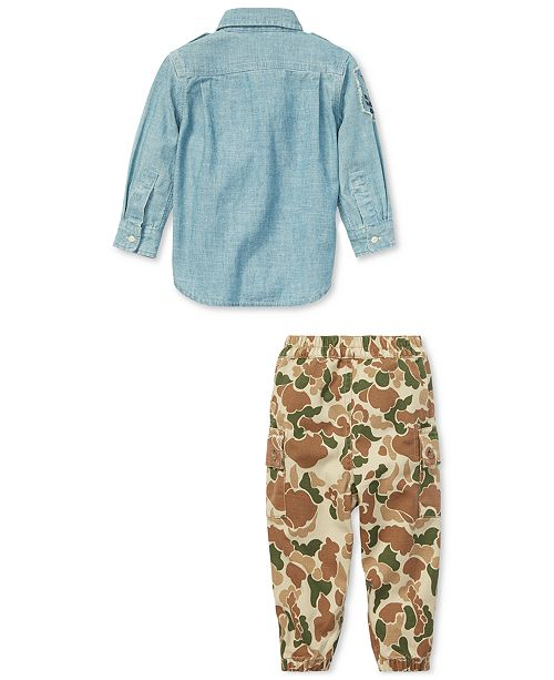 881193b0 Polo Ralph Lauren Baby Boys Cotton Chambray Shirt ...