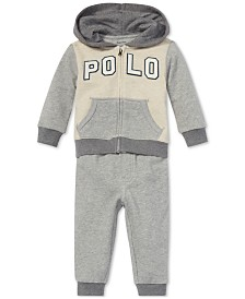 Polo Ralph Lauren Baby Boys French Terry Hoodie & Jogger Pants Set