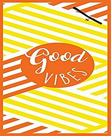 Premium High Performance Large Beach Pool Towel With Pocket Good Vibes, Yellow By MinxNY
