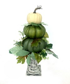 Harvest Stacked Pumpkins Urn With Try Me