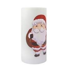 Christmas Santa Theme Flameless Candle and Projector