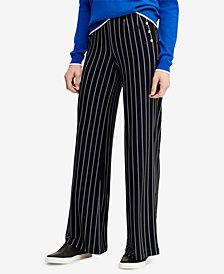 Lauren Ralph Lauren Button-Trim Pants