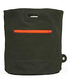 Mimish Canvas Storage Hamper Bin with Zipper Pocket