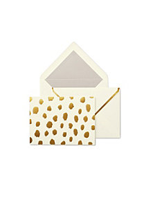 Kate Spade New York Notecard Set, Gold Flamingo Dot