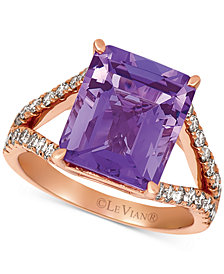 Le Vian® Amethyst (5-1/2 ct. t.w.) & Nude™ Diamond (5/8 ct. t.w.) Ring in 14k Rose Gold