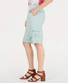 Style & Co Pull-On Utility-Pocket Bermuda Shorts, Created for Macy's