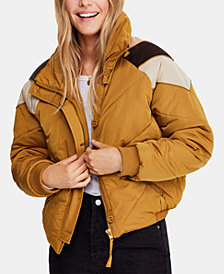Free People Heidi Chevron Ski Puffer Jacket