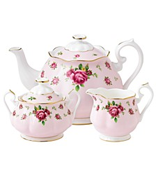 Old Country Roses Pink Vintage 3 Piece Tea Set