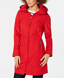 Tommy Hilfiger Hooded Zip Raincoat