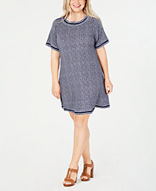 MICHAEL Michael Kors Plus Size Printed Short-Sleeve T-Shirt Dress
