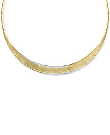 "EFFY® Diamond Border 16"" Collar Necklace (9/10 ct. t.w.) in 14k Gold"