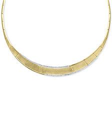 "EFFY® Diamond Border 16"" Collar Necklace (9/10 ct. t.w.) in 14k Gold"