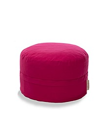 Cotton Pouf Ottoman with Storage