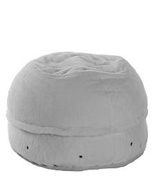 Mimish Cozy Sherpa Beanbag Chair with Storage