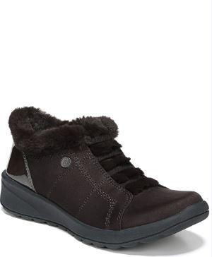 Bzees Golden Fur Trim Slip On Sneakers Women's Shoes