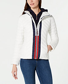 Tommy Hilfiger Attached Hoodie Puffer Jacket, Created for Macy's