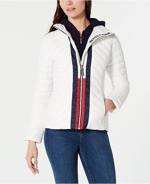 außergewöhnliche Auswahl an Stilen klassisch ästhetisches Aussehen Tommy Hilfiger Attached Hoodie Puffer Jacket, Created for ...