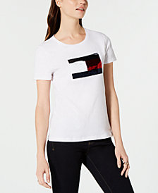 Tommy Hilfiger Sequin T-Shirt, Created for Macy's