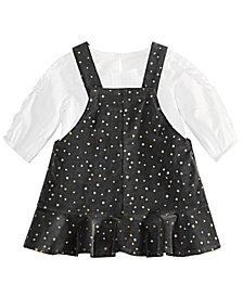 First Impressions Baby Girls Gold Stars Jumper & Ruffle Top Separates, Created for Macy's