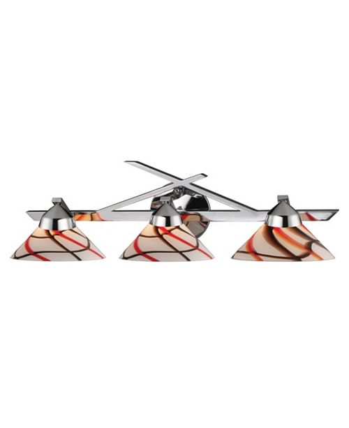 ELK Lighting Refraction Collection 3-Light Linear with Crw Glass