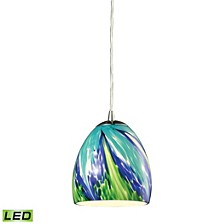 Colorwave Collection 1 light pendant in Satin Nickel - LED Offering Up To 800 Lumens (60 Watt Equivalent)