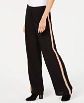 85cd0f5626f Eileen Fisher Side-Stripe Silk Wide-Leg Pants