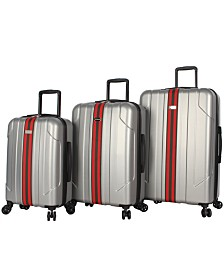 Steve Madden B-2 3-Piece Hardside Spinner Suitcase Set