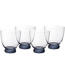 Villeroy & Boch Montauk Aqua Double Old Fashioned Tumbler, Set of 4