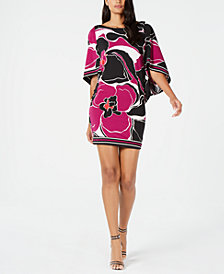 Trina Turk Casablanca Floral-Print Boat-Neck Dress