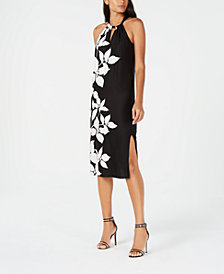 Trina Turk Floral-Print Tie-Back Dress, Created for Macy's