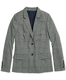 Tommy Hilfiger Women's  Lilly Glen Plaid Blazer From The Adaptive Collection