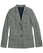 a12ac564 Tommy Hilfiger Adaptive Women's Lilly Glen Plaid Blazer with Magnetic  Closures