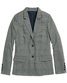 Tommy Hilfiger Adaptive Women's  Lilly Glen Plaid Blazer with Magnetic Closures